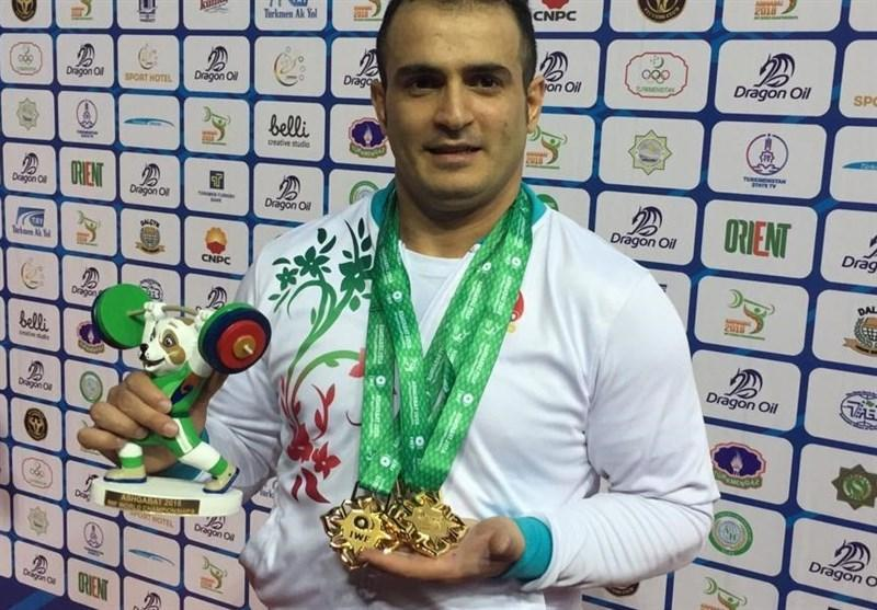 قهرمانی وزنه برداری 2018 ترکمنستان، ایران در رده دوم جدول مدالی