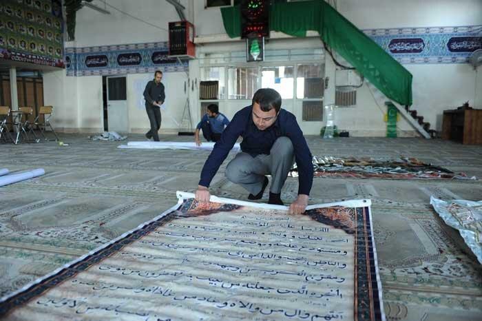 غبارروبی 60 مسجد در ماه مهمانی خدا