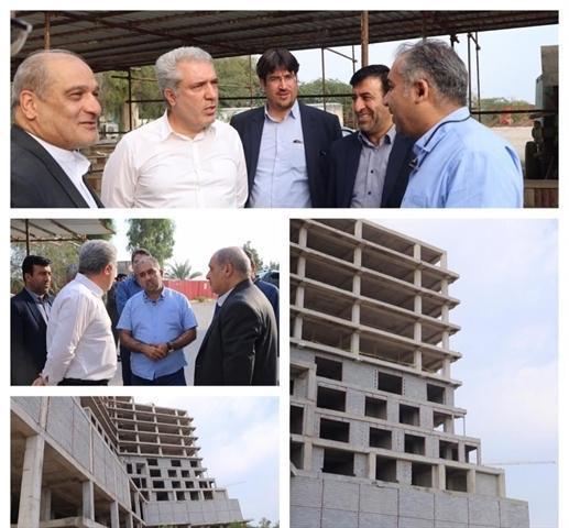 مونسان از روند ساخت هتل 5 ستاره ماتیا قشم بازدید کرد